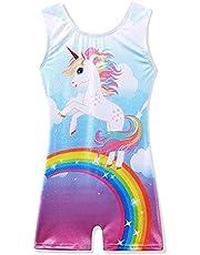 Gymnastics Leotard For Girls Dance Clothes Ballet Tutu Rainbow Pony 3-11Y