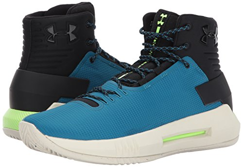 Under Armour Men's Drive 4, Black (003)/Bayou Blue, 7