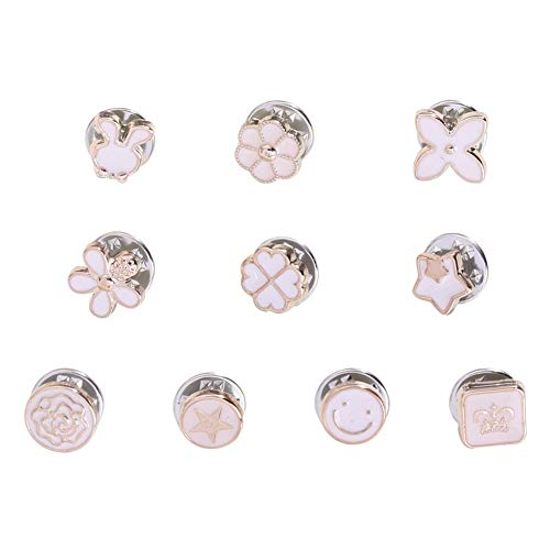 SKZKK Brooch Pins 10 Pieces Enamel Lapel Pin Fashion Glaze Pins for Jackets Gifts for Women Cute Pins Collar Jewelry for Women