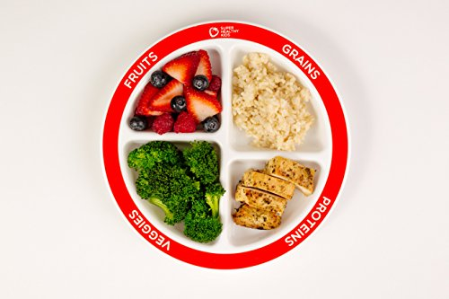 Myplate Divided Kids Portion Plate 4 Fun Amp Balanced