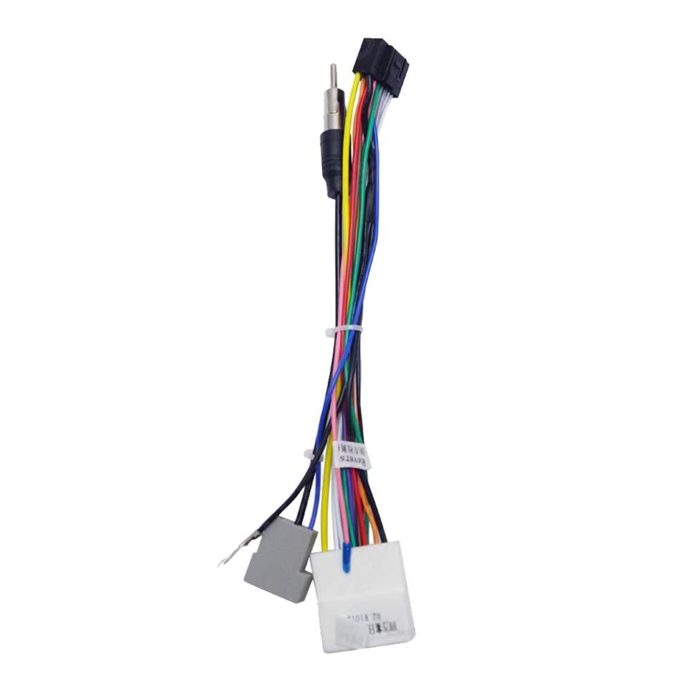 Elegantamazing Arn/és Adaptador para Radio est/éreo de Coche de 16 Pines para Nissan OEM Car Radio Harness