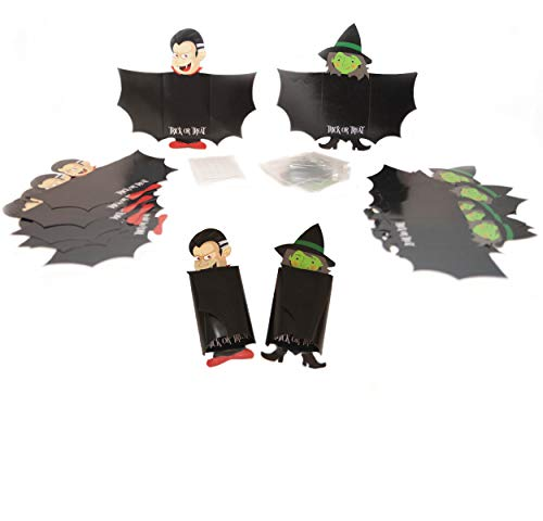 Scary Good Halloween Dracula Witch Candy Holder Treat Pack - Set of 24