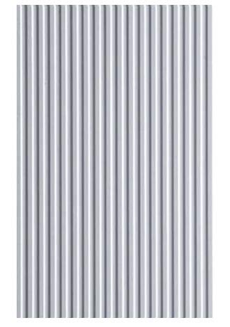 Evergreen Corrugated Iron Sheet, 1x 150x 300mm, 1Piece