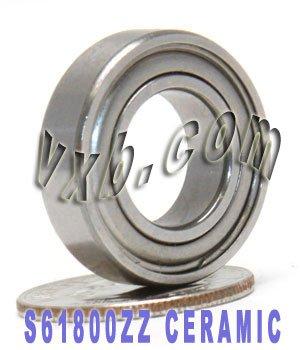 S61800ZZ Bearing Ceramic Stainless Steel Shielded 10x19x5 Ball Bearings VXB Brand