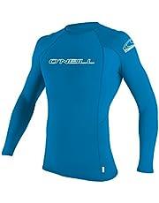O'Neill Men's Basic Skins Long Sleeve Rashguard 2XL Brite Blue (3342IS)
