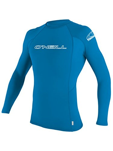 O'Neill Men's Basic Skins Long Sleeve Rashguard 2XL Brite Blue (3342IS)