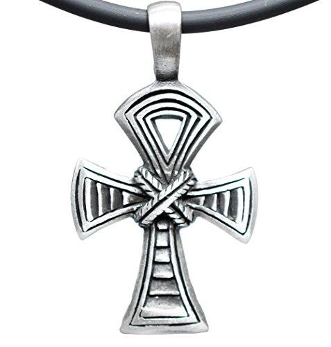 [Ankh Cross of Life Celtic Egypt Egyptian Pewter Pendant + 18