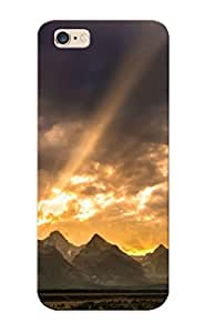 Lvouec-4244-fnpxqyp Sunrise Behind The Mountain Range Fashion Tpu Case Cover For Iphone 6 Plus, Series