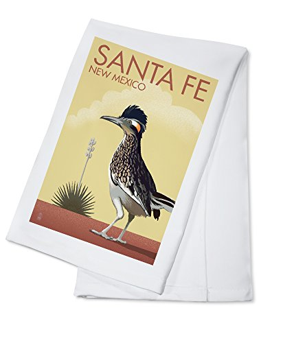 Santa Fe, New Mexico - Roadrunner - Lithograph (100% Cotton Kitchen - Santa Fe Towel