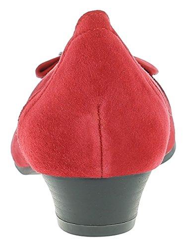HIRSCHKOGEL Damen Pumps 3009220 Trachtenschuhe | Oktoberfestschuhe |, Größe:38 EU, Farbe:Rot/Kombi