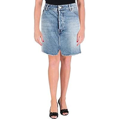 IRO. Jeans Womens Two-Tone Light Wash Denim Skirt