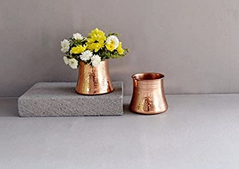 Image Unavailable & Amazon.com: Rosa Vase - Copper Home Decor Item Copper Flower Pot ...