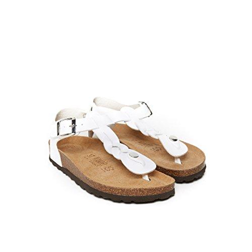 Sandales Bianco Mandèl Blanc Pour Femme MD5110 qY5wvHxX