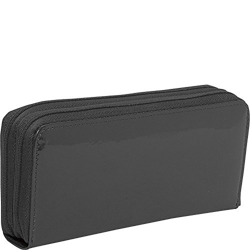 Jack Georges Patent Collection Double Zippered Leather Clutch Wallet in (Patent Collection Zippered Clutch)