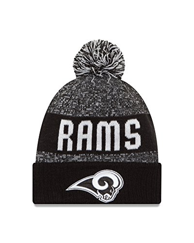 NFL Los Angeles Rams 2016 Sport Knit Beanie, One Size, (Los Angeles Black And White)