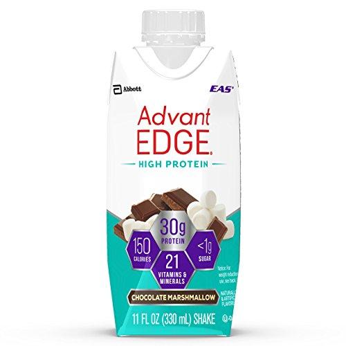 EAS AdvantEDGE High Protein Ready-to-Drink Protein Shakes, 30 grams of Protein, Chocolate Marshmallow, 12 ()