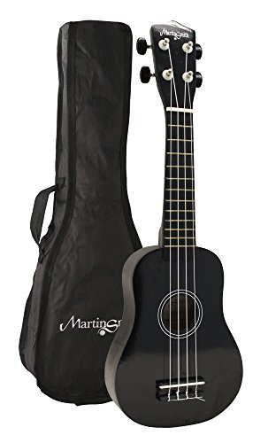 Martin Smith UK-212 - The ultimate Soprano Ukulele Starter kit, Black