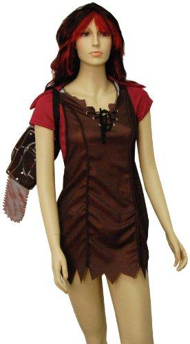 The Texas Chainsaw Massacre Leatherface Womens Dress Costume, (Female Leatherface Costume)