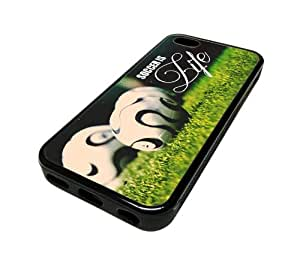 Apple iPhone 6 4.7 Case Cover Skin SOCCER IS LIFE Hipster DESIGN BLACK RUBBER SILICONE Teen Gift Vintage Hipster Fashion Design Art Print Cell Phone Accessories