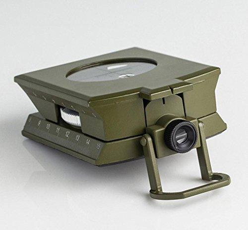 oldeagleプロフェッショナルポータブルMilitaryポケットメタルSightingコンパス、クリノメーターハイキングキャンピングツール