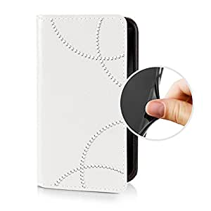 Espee GNEB2051 tipo con Tapa con hojas de silicona y cierre magnético para Samsung Galaxy Note Edge SM-N915F blanco