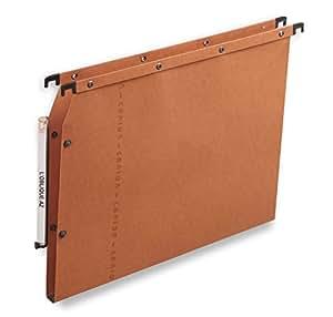 L'Oblique AZ - Caja de 25 archivadores para colgar, color naranja