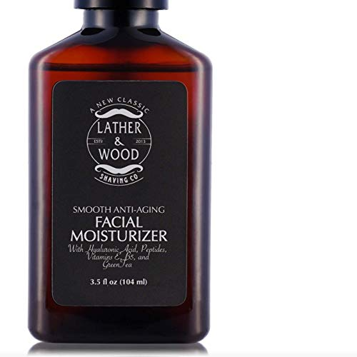 Face Moisturizer for Men – Lather Wood s Luxurious Sophisticated Mens Moisturizer for the Man s Man. Fragrance-Free Face Cream for Men. Unscented, 3.5 ounce