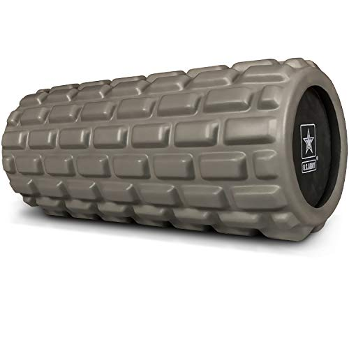 U.S. Army Foam Roller - Deep Tissue Massage Roller for Trigger Point Release on Muscles - Dark Green