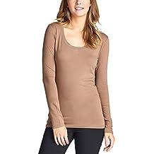ToBeInStyle Womens' Basic Long Sleeve Scoop Neck T-Shirt