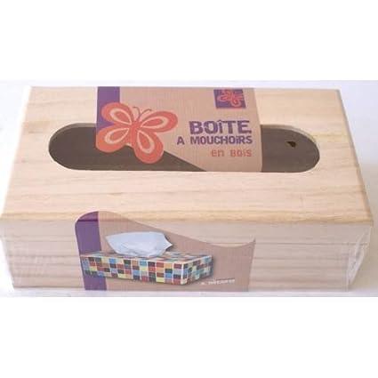 Boite A Mouchoir En Bois A Decorer Amazon Fr Cuisine Maison