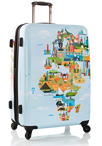 Heys - Künstler Fernando World Map Trolley mit 4 Rollen Gross
