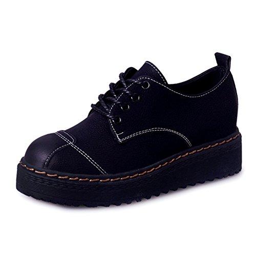 England Wind Frauenschuhe,Retro Schuhe,Schuhe Mit Unsichtbaren High-heel,Koreanische Version Der Flat Soles Casual Shoes A
