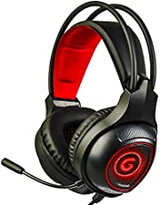 GT PS5 Gaming Headset with 7.1 Surround Sound, Xbox one Headset with Noise Canceling Mic & LED Light, Compatible with PC, PS4, Xbox One Controller(Adapter Not Included)(Red)