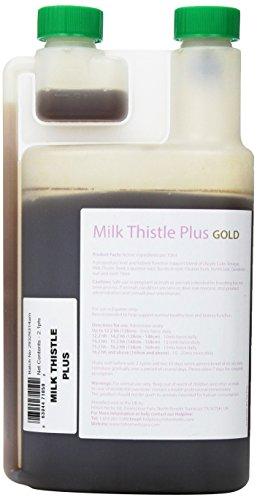 Hilton Herbs Milk Thistle Plus Gold Liquid Herbal Detox Supplement for Horses, 2.1pt Bottle by Hilton Herbs (Image #1)