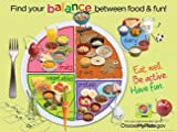 Learning ZoneXpress MyPlate 18 x 24 in Laminated English Poster, Ages 2 thru 8