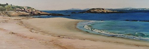 Waterford Beach Waterford CT Acrylic and Oil Plein Air Painting without Framed Connecticut Shoreline New England seascape beach art coastal(without framed)