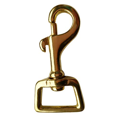 MOPOLIS Solid Brass Trigger Hooks Swivel Snap Hook Clip Dog Lead Handbag Clips Hook | Size - 21x60mm ()