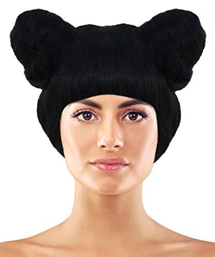 Nicki Minaj Chun Li Two Buns Wig | Black Celebrity Wigs]()