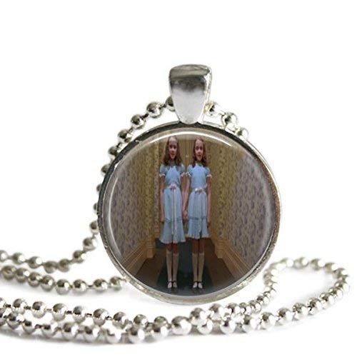 The Shining Grady Twins 1 Inch Silver Plated Pendant Necklace -