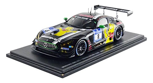Spark sg249 – Mercedes – Benz AMG Läppen GT3 – 24h Nürburgring 2016 – Maßstab 1/43 – Schwarz/Gelb