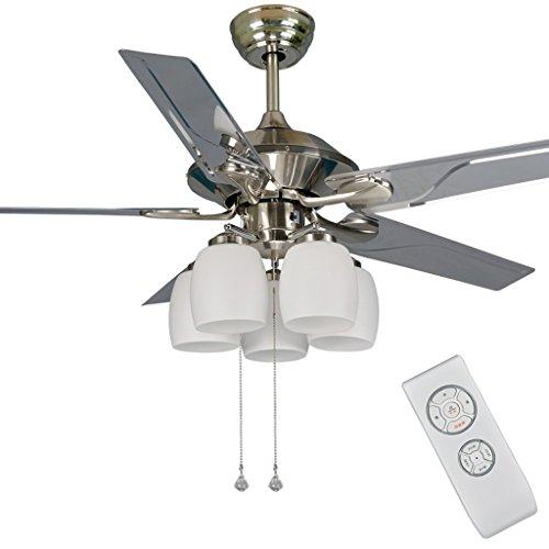 YOUSHAN% - lámpara de acero inoxidable ventilador de techo del ...