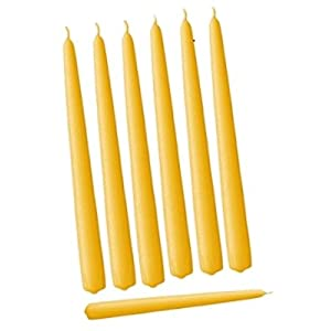 D'light Online Elegant Taper Premium Quality Candles Set of 12 2