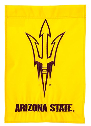 Team Sports America Arizona State Outdoor Safe Double-Sided Applique Garden Flag, 12.5 x 18 inches