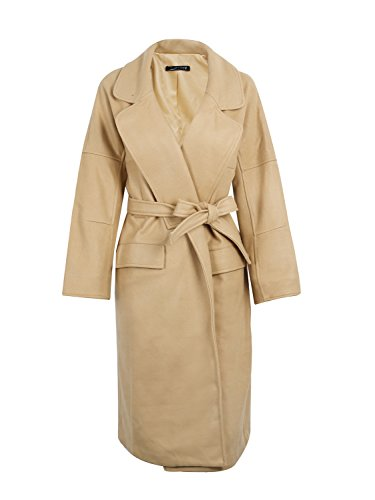 Wool Belt Tie Coat Jacket - 2