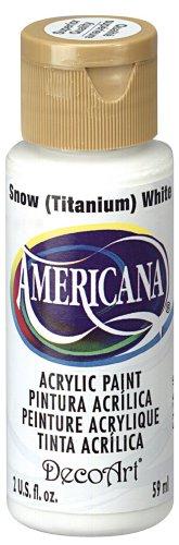 Americana Acrylic Paint Ounce Snow White
