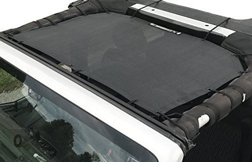 - Alien Sunshade Jeep Wrangler Durable Polyester Mesh Shade Top Cover Provides UV Sun Protection for Your 2-Door or 4-Door JK or JKU (2007-2017) Original Black Unrivalled 10 Year Warranty