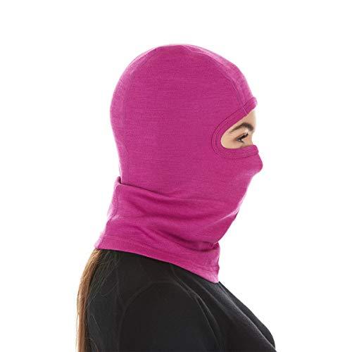 Minus33 Merino Wool Clothing Unisex Midweight Wool Balaclava, Radiant Violet, One Size by Minus33 Merino Wool (Image #2)