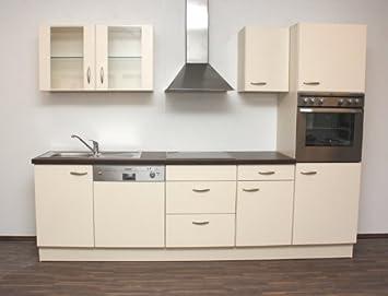 NEU* QUELLE 280cm Werra Kompaktküche Küche Creme Küchenblock ...