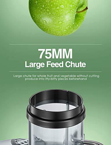 Aicok Centrifuga Frutta e Verdura, 800W Potente Estrattore di Succo Freddo con 75MM Bocca Larga, Piedi Anti-scivolosi e… 3