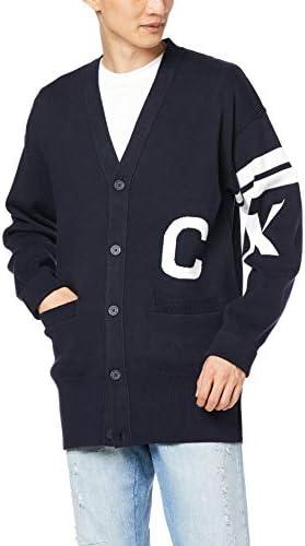 (カルバンクライン) 【CALVIN KLEIN JEANS】ロゴ コットン ボタン Vネック ニット カーディガン J312531